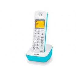 Telefono inalambrico spc telecom air 7280a identificador llamadas agenda y rellamada azul y blanco