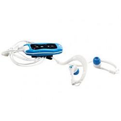 Reproductor mp3 ngs seaweed acuatico capacidad 4 gb conector usb radio fm color azul