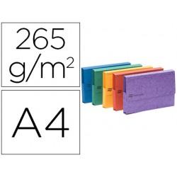 Subcarpeta cartulina lustrada con bolsa exacompta din a3 colores surtidos 265 gr