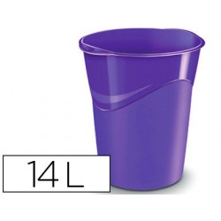 Papelera plastico cep violeta 14 litros
