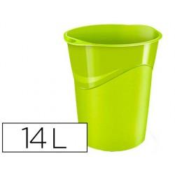 Papelera plastico cep verde 14 litros