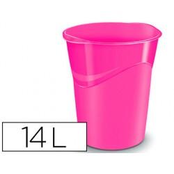 Papelera plastico cep rosa 14 litros