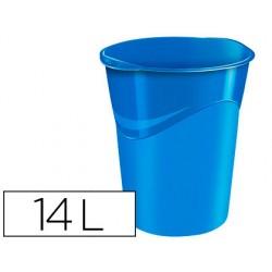 Papelera plastico cep azul 14 litros