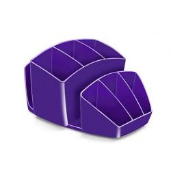 Organizador sobremesa cep 8 compartimentos plastico violeta 143x158x93 mm
