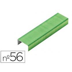 Grapas rexel n.56 26/6 color verde lima caja de 2000 unidades