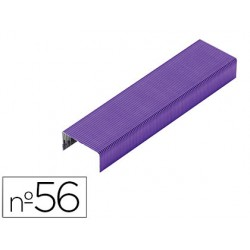 Grapas rexel n.56 26/6 color morado caja de 2000 unidades