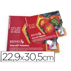 Paleta papel reeves desechable 40 hojas 22,9x30,5 cm