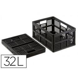 Caja plegable archivo 2000 polipropileno 32 litros color negro