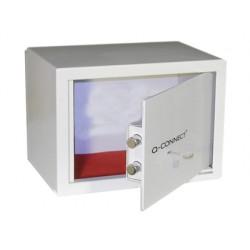 Caja de seguridad q-connect doble pasador capacidad 10l con accesorios fijacion 296x140x196 mm