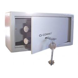 Caja de seguridad q-connect doble pasador capacidad 6l conaccesorios fijacion 200x200x150 mm