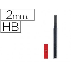 Mina caran d'ache grafito hb 2 mm longitud 12 cm estuche de 3 minas