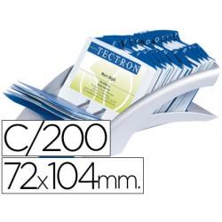 Tarjetero duraclip visifix plata 100 fundas para 200 tarjetas tamaño 72x104 mm incluye separador az