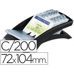 Tarjetero duraclip visifix negro 100 fundas para 200 tarjetas tamaño 72x104 mm incluye separador az