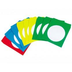 Sobre para cd q-connect con ventana transparente y solapa autoadhesiva -pack de50 unidades colores surtidos