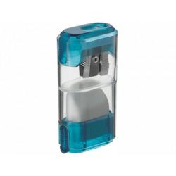 Sacapuntas m+r 955 -metalico 1 uso con deposito -con cierre y goma de borrar