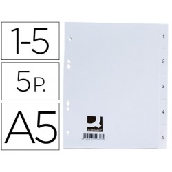 Separador q-connect plastico 1-5 juego de 5 separadores din a5 -6 taladros