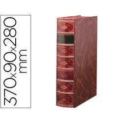 Caja libro pardo serie premier lomo de 90 mm color burdeos