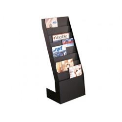 Expositor fast-paperflow de suelo 8 estantes negro