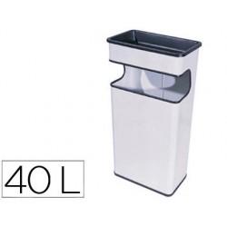 Cenicero papelera metalico 406 blanco -medida 67x31x19 cm