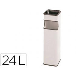 Cenicero papelera cuadrado 403 blanco -metalico -medida 65x18x18 cm