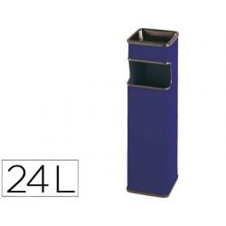 Cenicero papelera cuadrado 403 azul -metalico -medida 65x18x18 cm