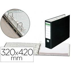 "Carpeta papel continuo elba carton forrado 320x420 mm -15""-lomo de 80 mm"