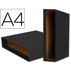 Caja archivador liderpapel color system a4 negra