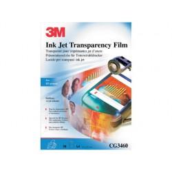 Transparencia 3m din a4 cg3460 especial impresoras hp deskjet con banda removible 50 hojas