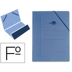 Carpeta liderpapel gomas folio bolsa carton compacto azul