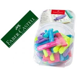 Rotulador faber fluorescente 1546 colores pastel expositor bombonera de 80 unidades colores surtidos