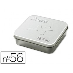 Grapas rexel optima hd40 n.56 caja metalica de 3750