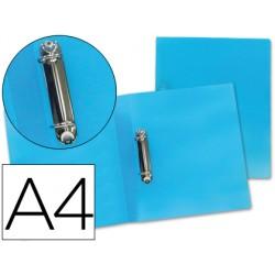 Carpeta liderpapel 2 anillas mixtas 25 mm 43472 polipropileno din a4 azul serie frosty
