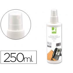 Spray q-connect para limpiar telefonos y superficies contenido 250 ml