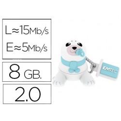 Memoria usb emtec flash 8 gb 2.0 animals bebe foca