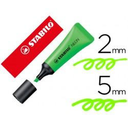 Rotulador stabilo fluorescente 72 verde neon