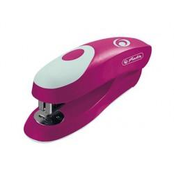 Grapadora herlitz small ergonomica 24/6 rosa capacidad 15 hojas