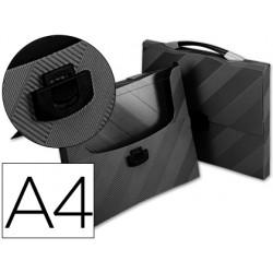 Carpeta beautone portadocumentos broche 34606 polipropileno din a4 negro -con asa