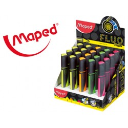 Rotulador maped fluo peps maxi expositor de 24 unidades colores surtidos