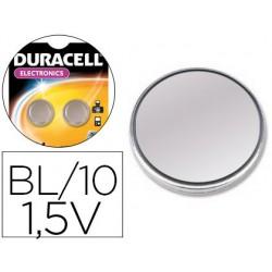 Pila duracell alcalina lr44 boton blister de 10 unidades