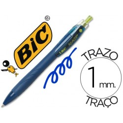 Boligrafo bic reaction ecologico azul -retratil tinta de aceite