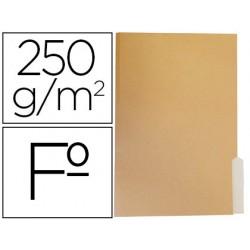 Subcarpeta cartulina gio folio pestaña derecha 250g/m2 bicolor
