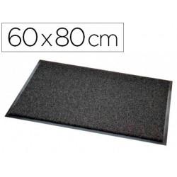Alfombra para suelo paperflow texturizado antipolvo ecologica material reciclado gris 60x80 cm