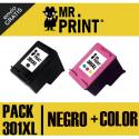 301XL V3 Pack Negro y Tricolor  compatible para HP