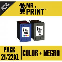 21XL y 22XL HP Pack negro y color Remanufacturados