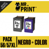PACK HP56/57XL Negro + Color (C6656AE) Cartucho HP Remanufactured