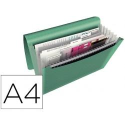 Carpeta esselte clasificador fuelle colour ice polipropileno din a4 color verde 6 departamentos cierre