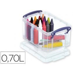 Organizador archivo 2000 plastico transparente con tapa0,70 litros 80x155x100 mm