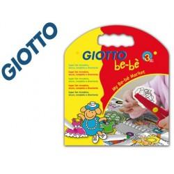Set giotto be-be my be-be-market rotuladores + cuaderno +tijera + adhesivos