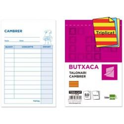 Talonario liderpapel camarero bolsillo original y 2 copias t350 texto en catalan