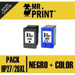 27/28XL HP Pack Negro y Tricolor Remanufacturados